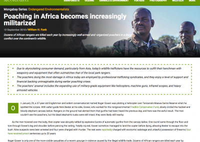 Poaching in Africa becomes increasingly militarized